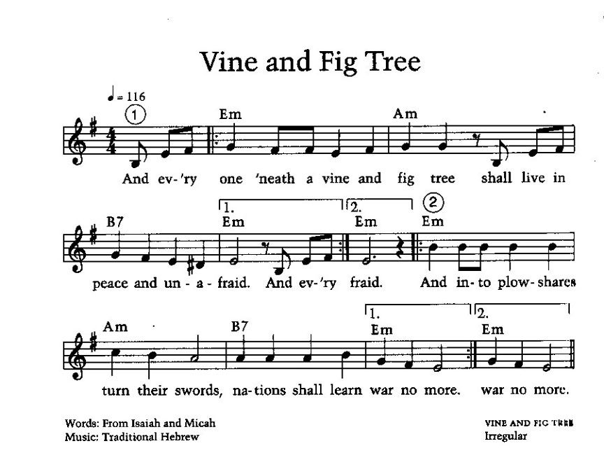 Lyric high low chicka low lyrics : Vine and Fig Tree Song | Music Room Stuff | Pinterest | Fig tree