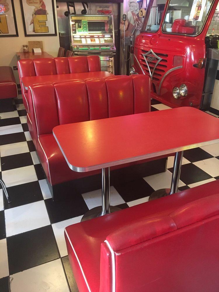 Diner Furniture American Vintage 50s Style Retro Home Bar Kitchen