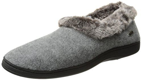 18d47c792a7 ACORN Womens Faux fur chinchilla Collar SlipperStoneLarge 89 M US     You  can find out more details at the link of the image.