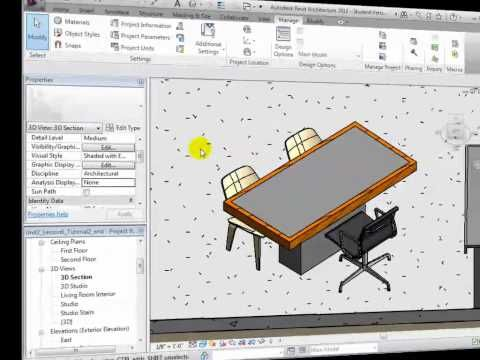 APPLYING NEW MATERIALS Revit Architecture | lessons || REVIT