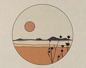 Live Like Flowers || Art Print || Vintage Inspired Art || Inspirational Art || Boho Art Print || Sunflower Landscape