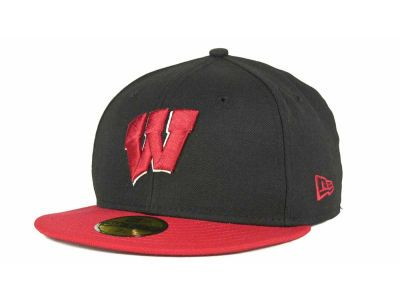 Wisconsin Badgers Black/Red 59FIFTY