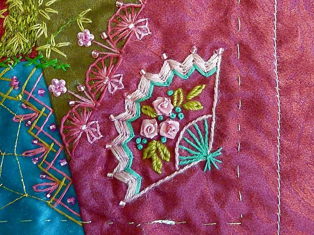 Embroidered fan detail | Flickr - Photo Sharing!