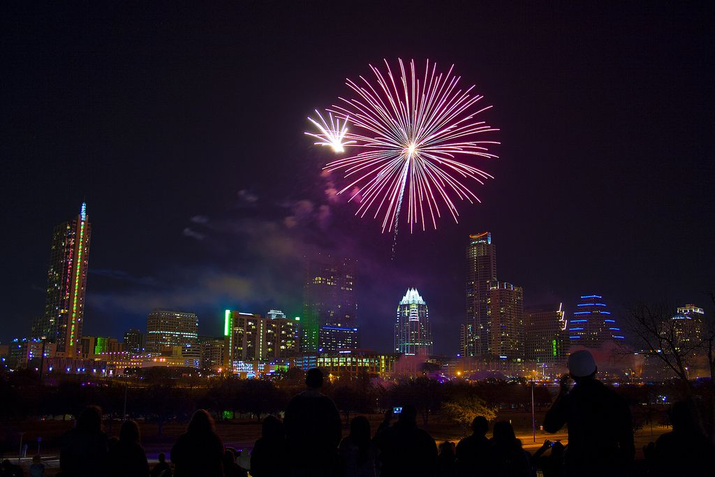 Ring In The New Year With Events In Austin New Years Eve Fireworks Austin Events New Years Eve