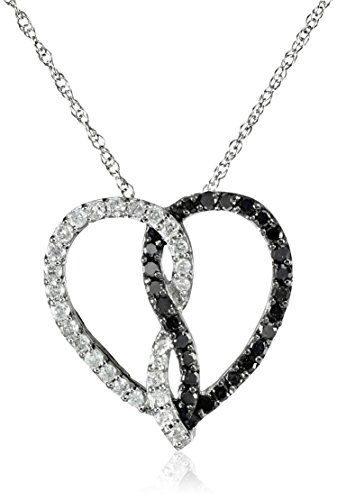 10k White Gold Black and White Diamond Heart Pendant Necklace (1/2 cttw) 18″ by Amazon Curated Collection - See more at: http://blackdiamondgemstone.com/jewelry/necklaces/pendants/10k-white-gold-black-and-white-diamond-heart-pendant-necklace-12-cttw-18-com/#!prettyPhoto