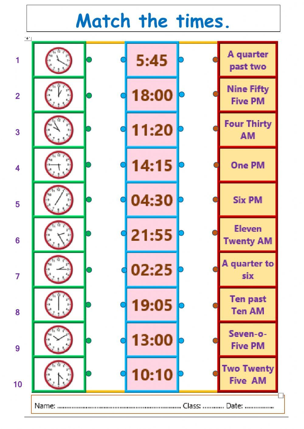 The hours interactive and downloadable worksheet. Check