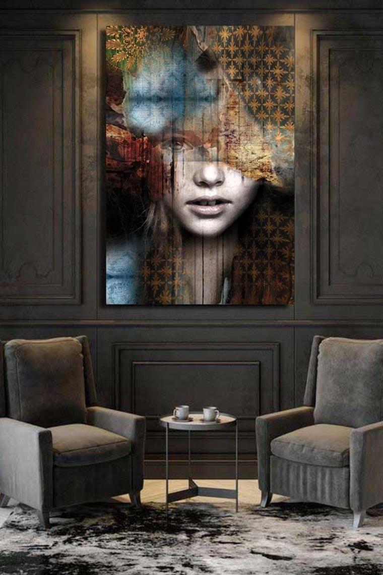Tableau Emma Tableau Deco Salon Tableau Deco Moderne Tableau Contemporain