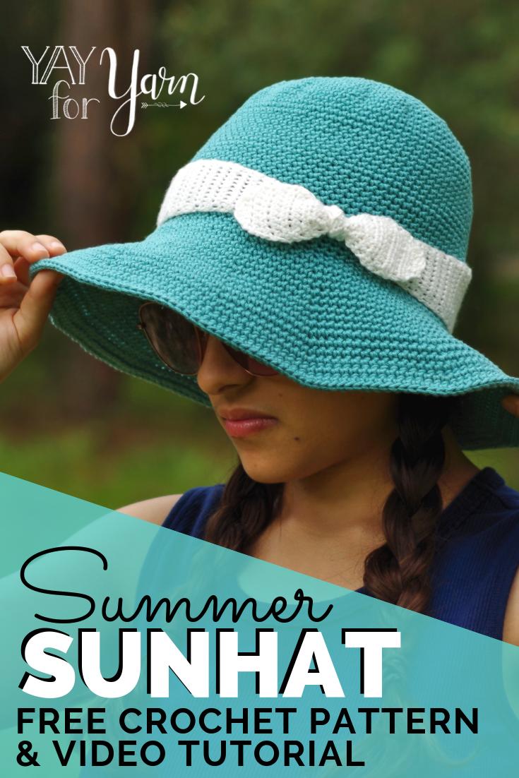 Summer Sunhat   Free Crochet Pattern for Babies, Children, and ...
