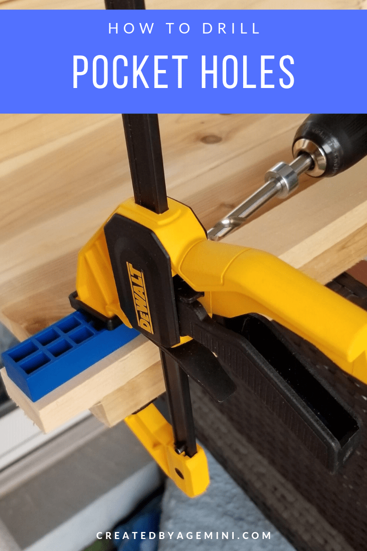 Drill Pocket Holes Into Wooden Boards With A Pocket Hole Jig To Help Join Them Together Pocketholejig Woodworking Jigs Pocket Hole Joinery Woodworking Jigsaw