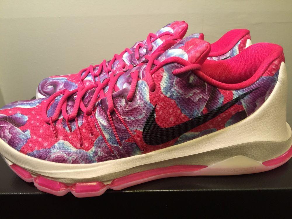 san francisco 43bb4 ee0f3 Nike KD 8 Kevin Durant VIII Aunt Pearl Vivid Pink Turquoise 819148-603 size  11  Nike  BasketballShoes