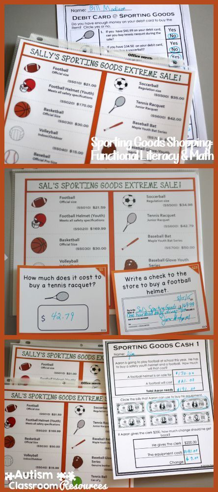 Sporting Goods Shopping: Functional Literacy and Math Skills ...