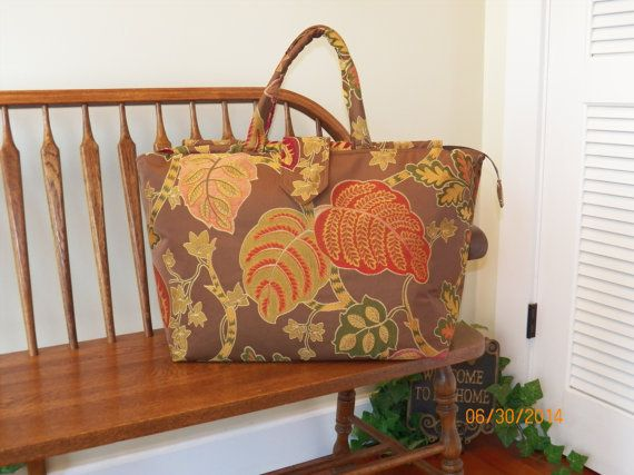 Vanessa's Autumn Tapestry Carpet Bag 1271    My by SignsofWelcome