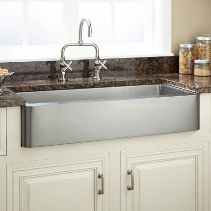33 Hazelton Stainless Steel Short Apron Farmhouse Sink With Images Farmhouse Sink Kitchen Stainless Farmhouse Sink Stainless Steel Farmhouse Sink