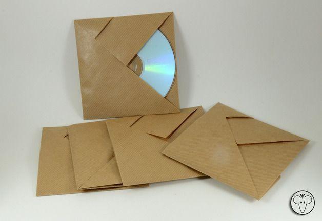 einsteckalben 5 cd h llen origami kraftpapier dvd h llen ein designerst ck von fine und neli. Black Bedroom Furniture Sets. Home Design Ideas