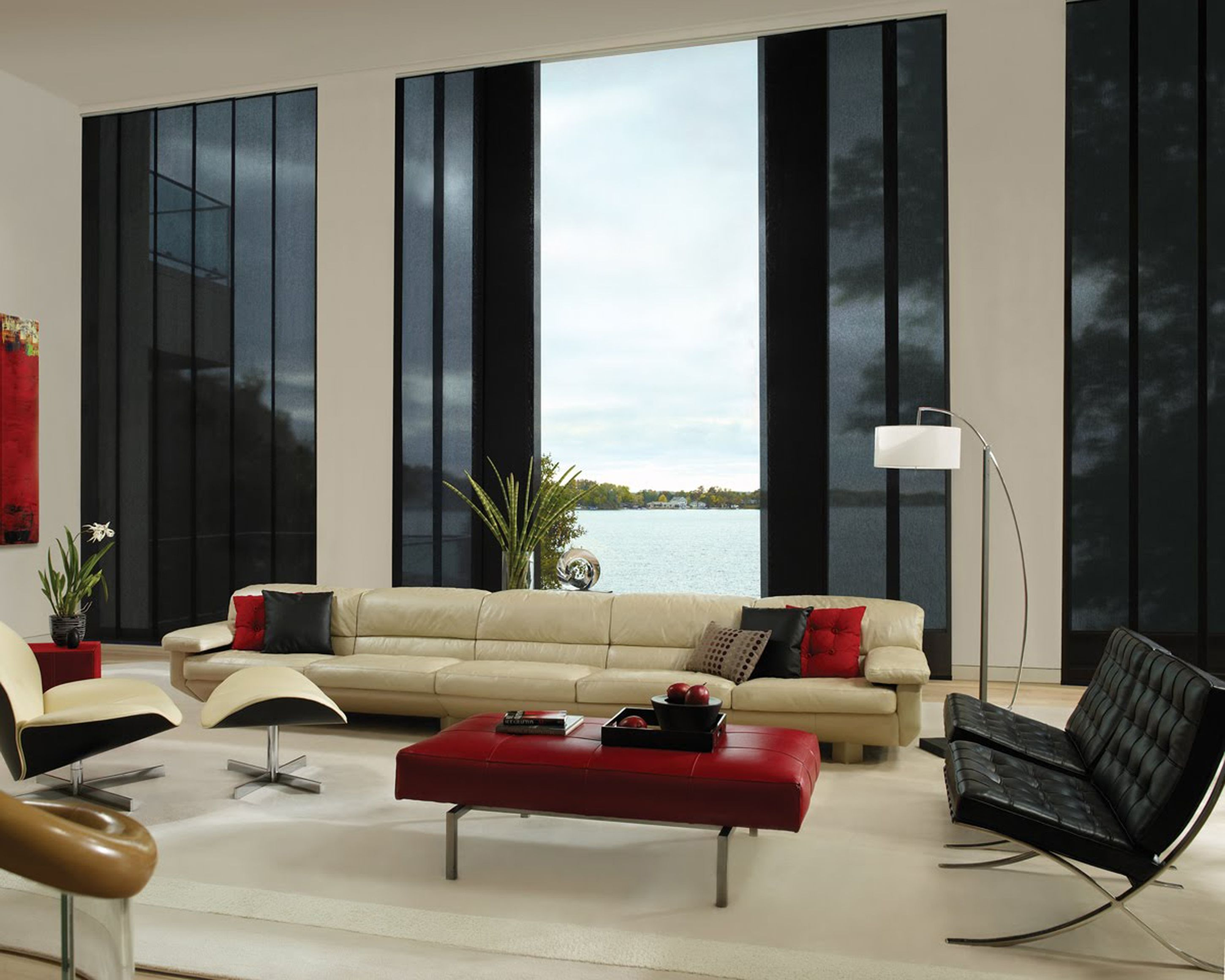 ideas red white easy black silver image furniture of living and retro simple room