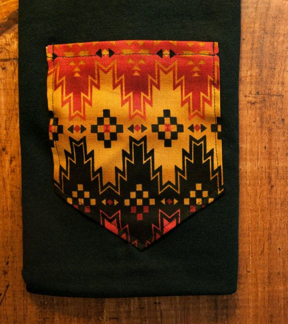 Navajo native print pocket shirt S/M/L/XL $20