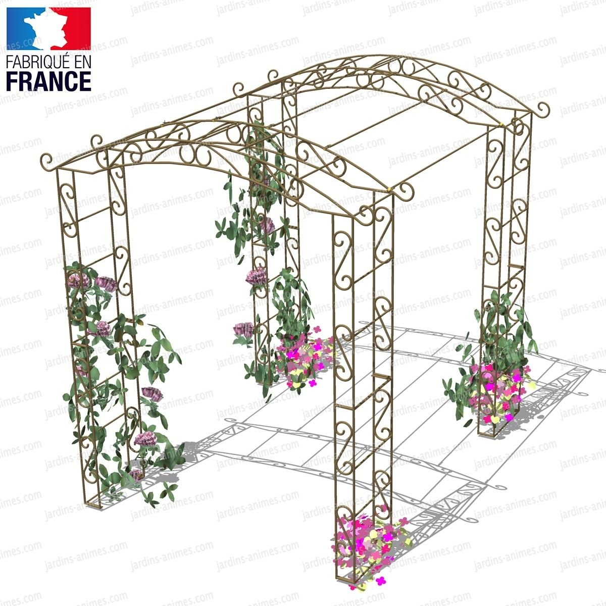 Kiosque Tonnelle En Fer 4 Pieds 4 50m2 Arche Jardin Kiosque Jardin Jardins