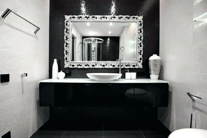 Pin By Beatrice Bodron On Back To Black White Bathroom Decor
