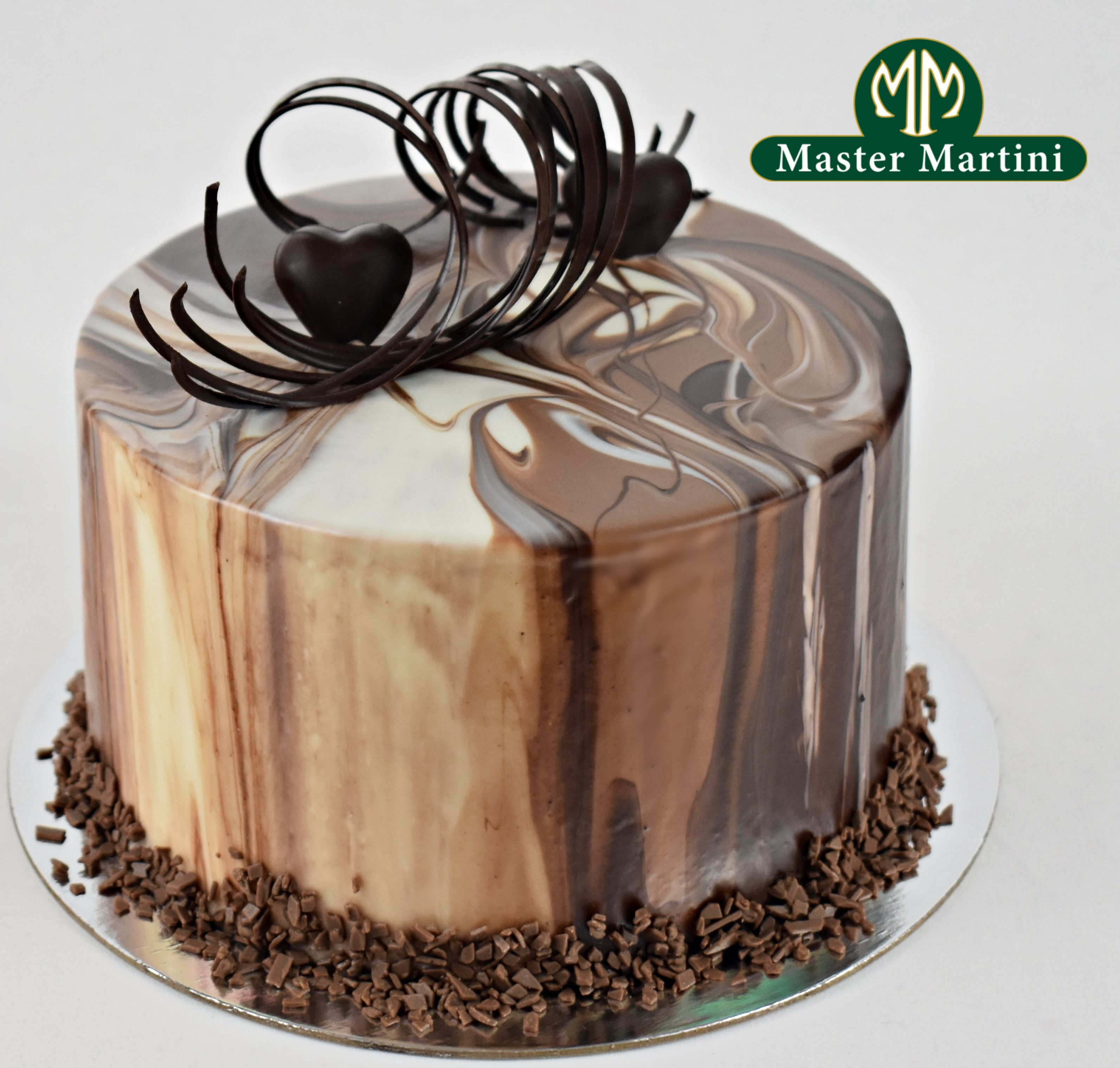 Triple Chocolate Ganache Cake Marbled Ganache Cake Made With Master Martini Dark Milk And White Choco With Images Chocolate Chocolate Ganache Cake Dark Chocolate Cakes