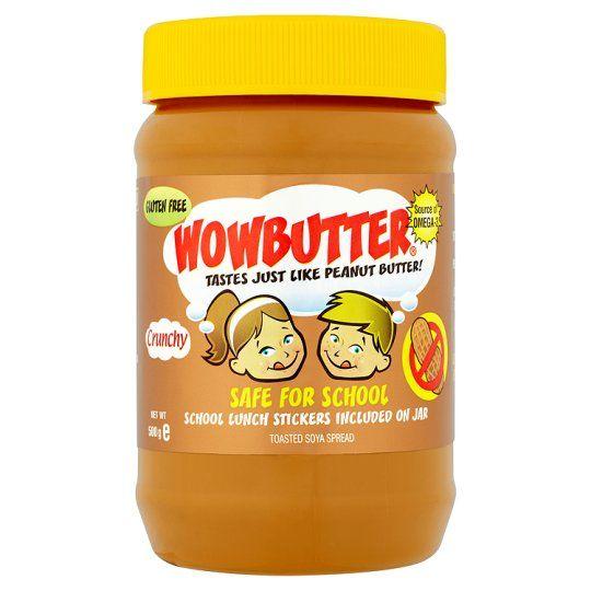 Wowbutter Crunchy Nut Freebutter 500g Vegan Supermarket Tesco Groceries Butter