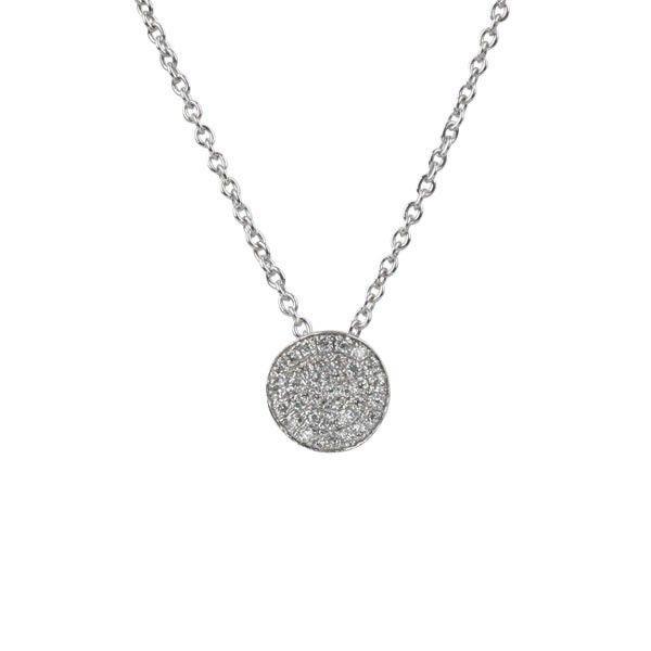 Small organic white gold diamond circle pendant white gold nada g necklace small organic white gold diamond circle pendant necklace at ec one aloadofball Choice Image