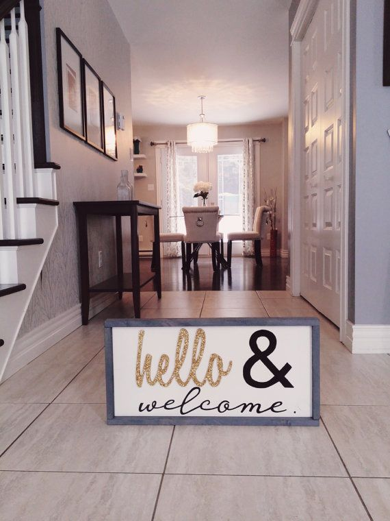 Not Interested In The Sign, But I Love This Entryway And Dining Room. Great