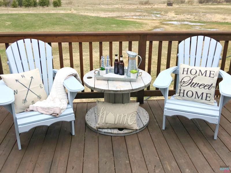 Diy Farmhouse Style Wood Spool Table Ideas Tutorial To Make A