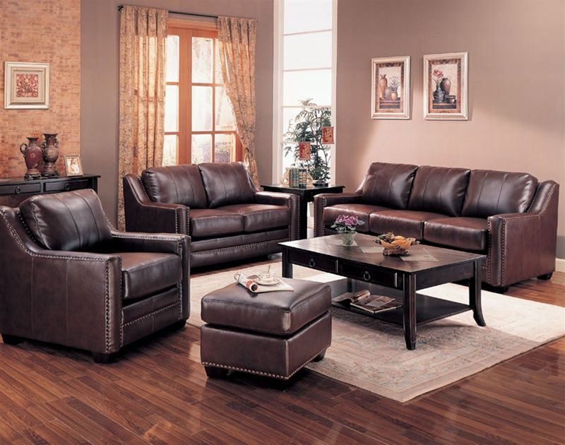 Best Living Room Leather Living Room Set In Brown Cheap Living 400 x 300