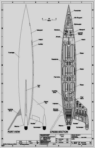 Rocket Ship Diagram Clipsal Phone Jack Wiring Destination Moon Design And Performance Of The Rocketship Luna