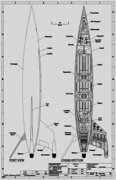 real rocket ship diagram 2002 ford windstar serpentine belt destination moon design and performance of the rocketship luna