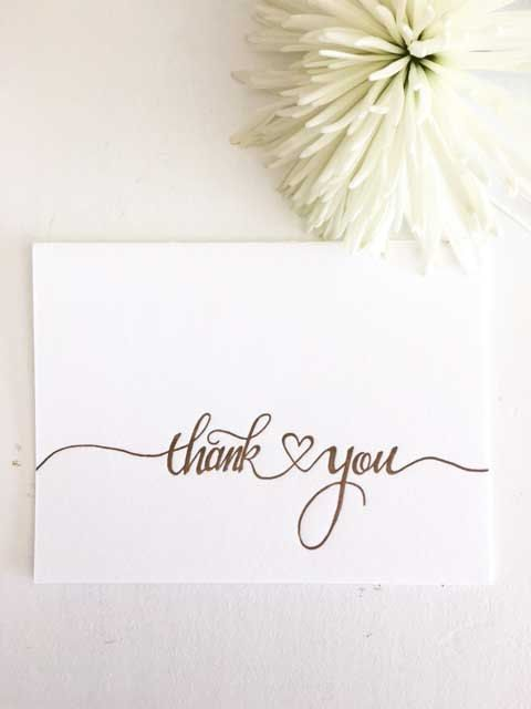 Wedding Thank You Cards, Engagement Thank You Cards, Wedding Card