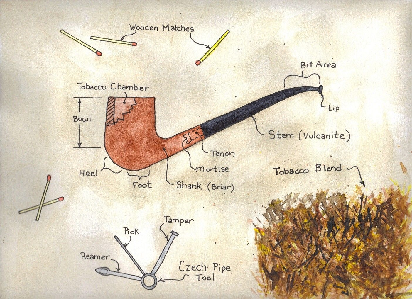 Pipe anatomy... | Smoking Pipes | Pinterest | Pipes, Cigar and ...