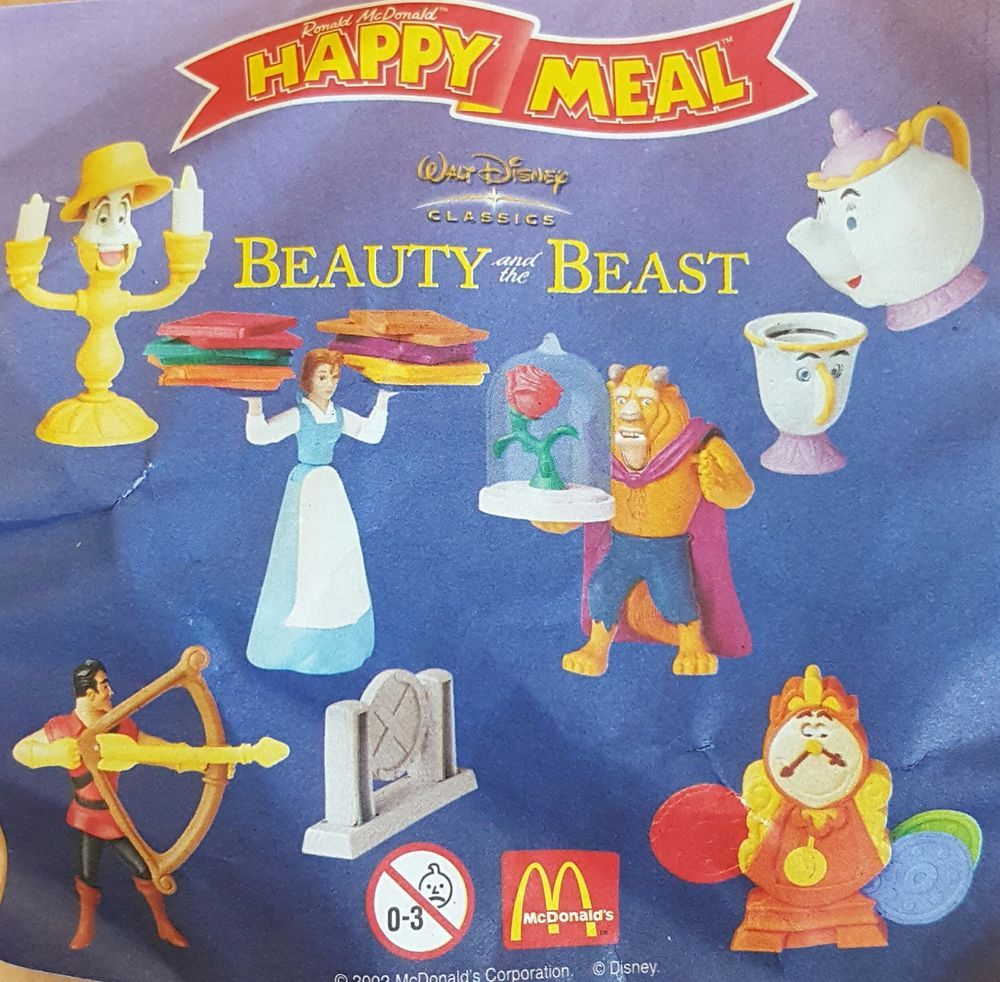 Mcdonalds Happy Meal Toy 2002 Beauty The Beast Characters