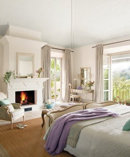 ARMONÍA DECORATIVA HABITACIONES ROMÁNTICAS Dream home Pinterest - decoracion de interiores dormitorios