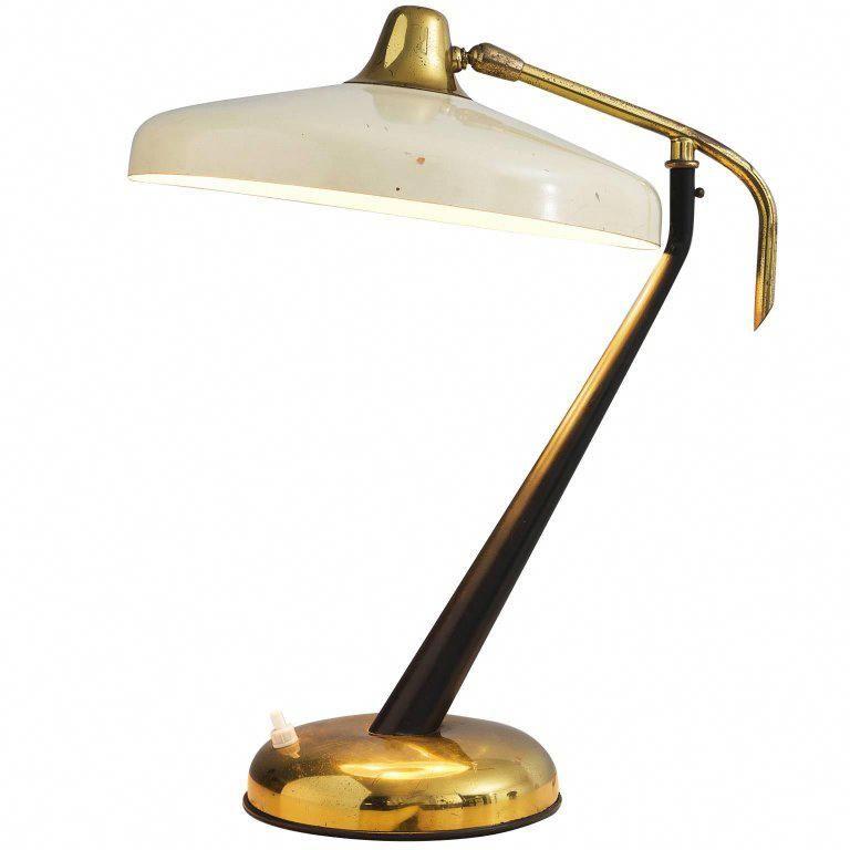 Oscar Torlasco Table Lamp Lumi Desk Lamp Italian Mid Century Modern Metal Brass Cutelamps Lamps Living Room Lamp Beautiful Lamp