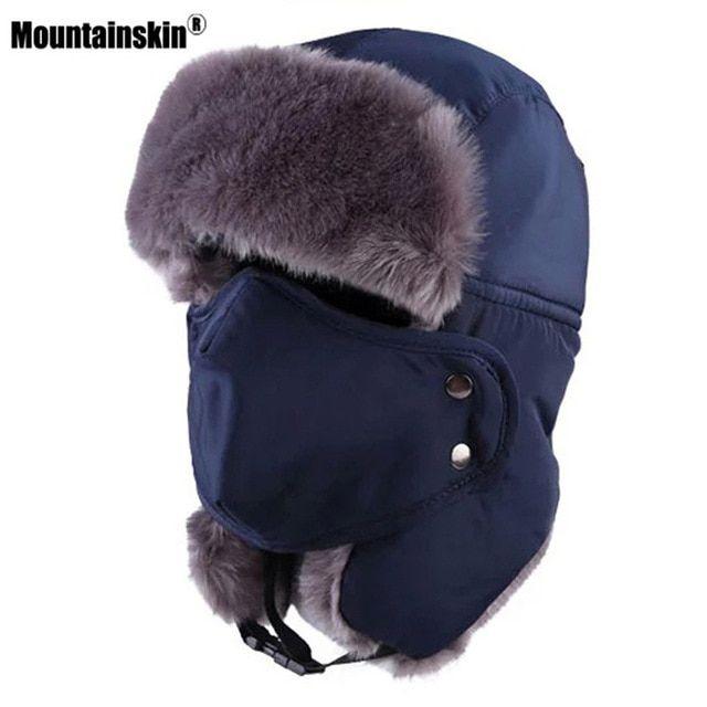 6848b88c11dc5 Mountainskin Men Women Winter Outdoor Sports Fleece Hat Ear Protection Mask  Hiking Camping Ski Trekking Climbing Hats VK086 Review