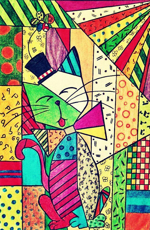 Desenho-Releitura-Romero-Britto - By Nathália