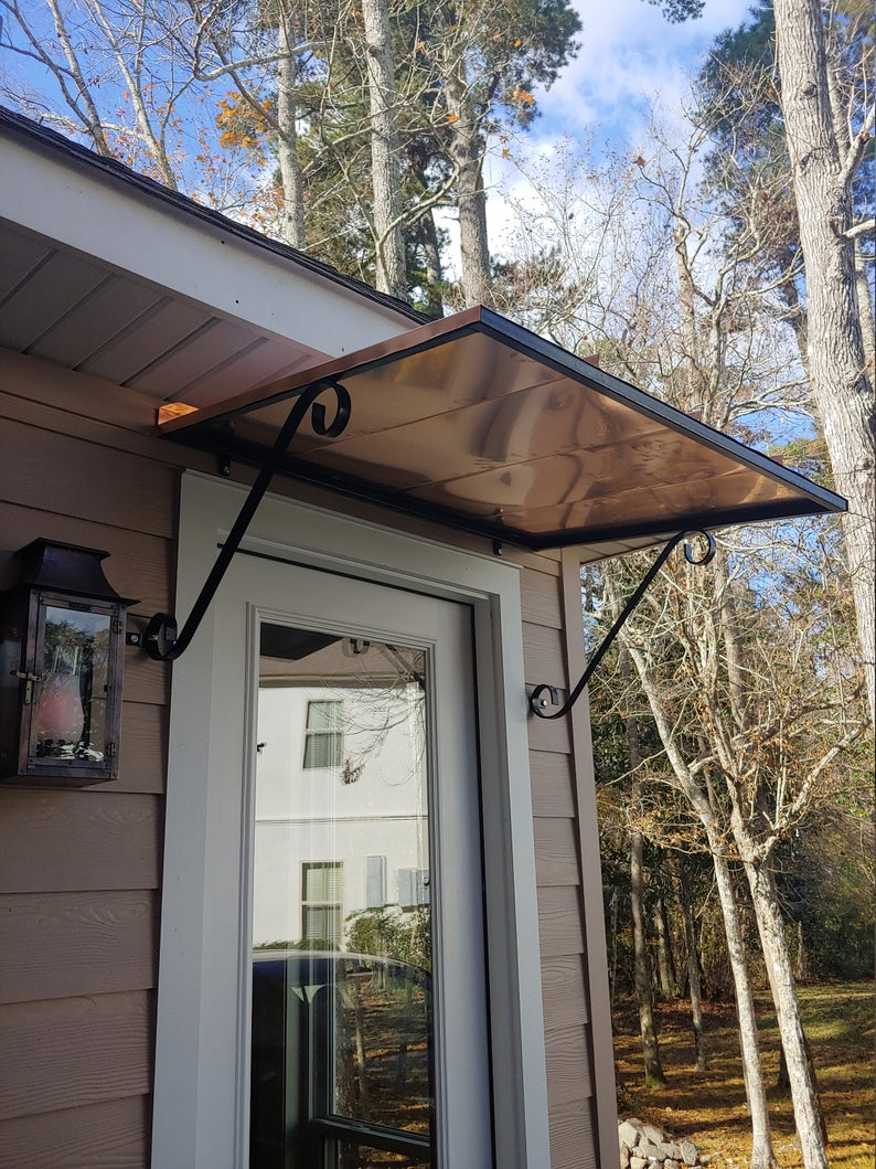 4' copper awning   Etsy in 2020   Diy awning, Awning over ...