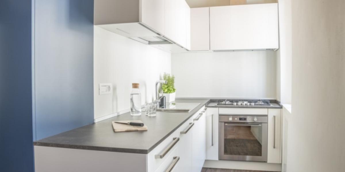 meubles de cuisine en couleur