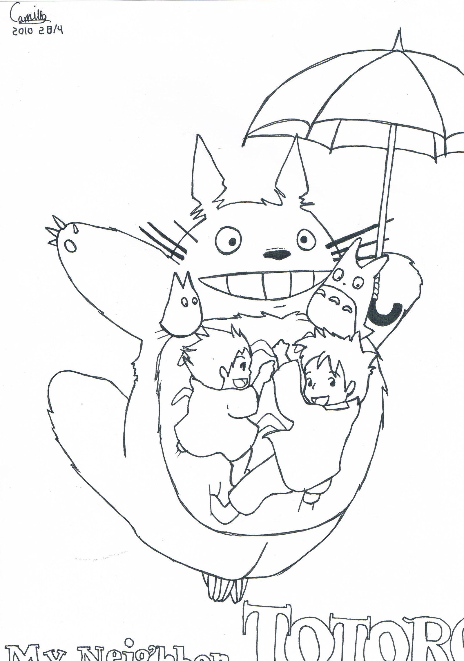 Mon Voisin Totoro Coloriage Coloring Pages