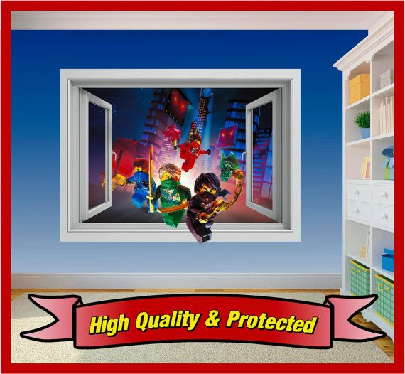 LEGO Ninjago Fenster Wall Art Sticker Aufkleber von Solosignsuk ...