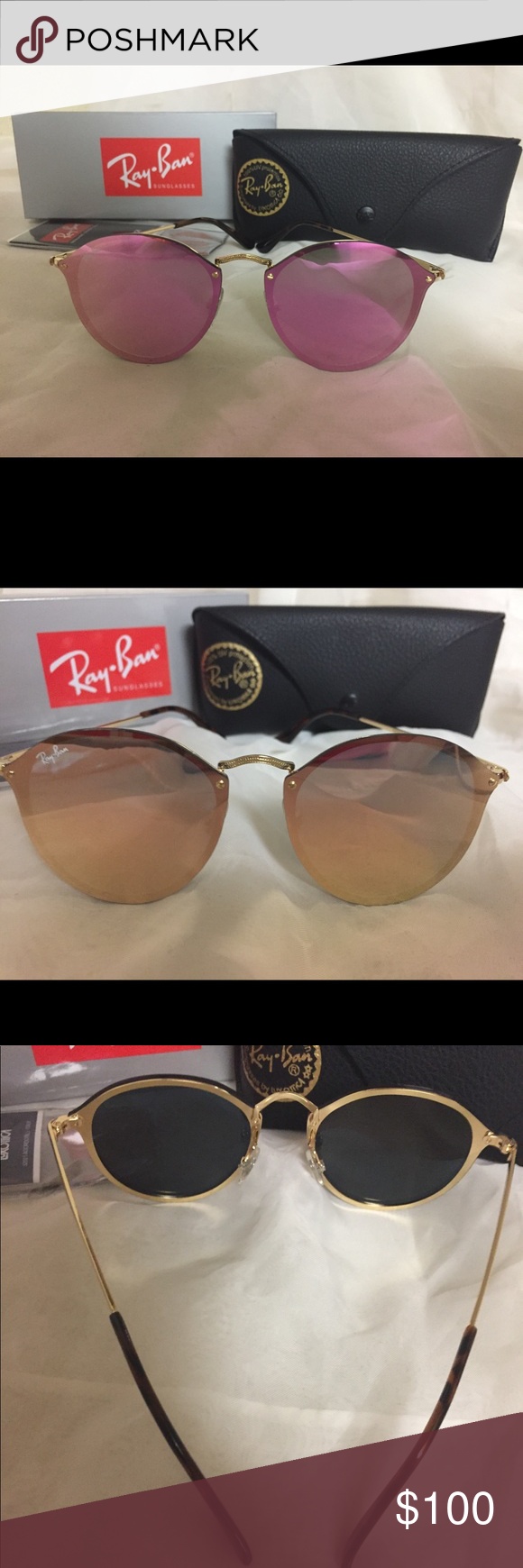 b57ab087a5 Ray Ban Pink Blaze Round 💯 % Authentic and brand new blaze round lenses.  Model