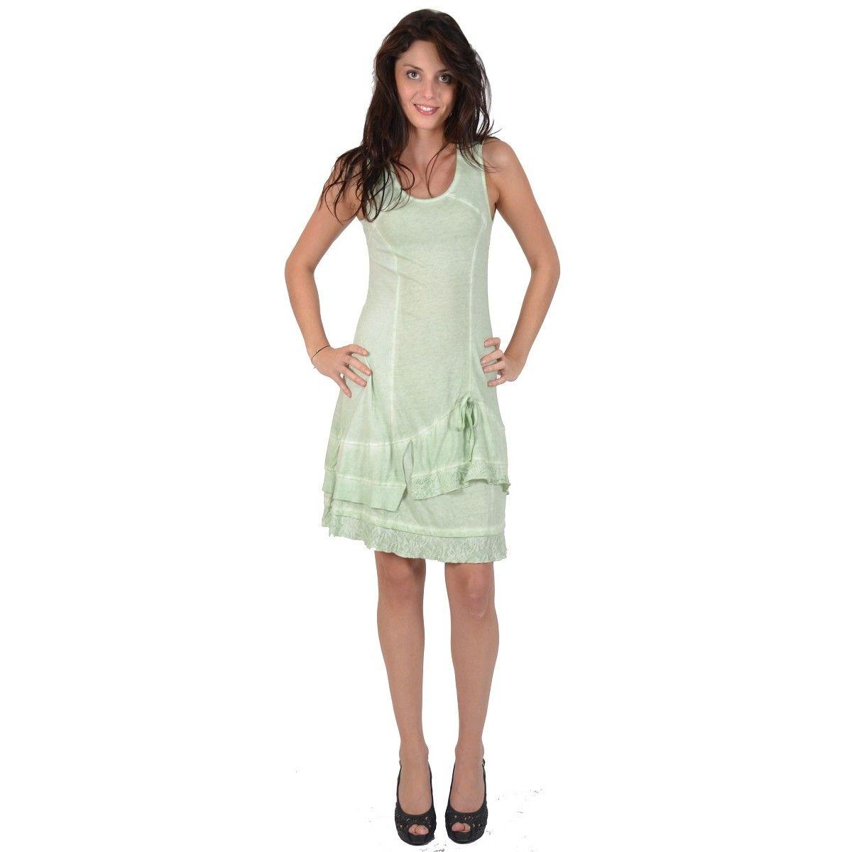 5909dfb38ba Robe sans manche Maloka couleur verte - Tifaine - Mode-lin.com ...