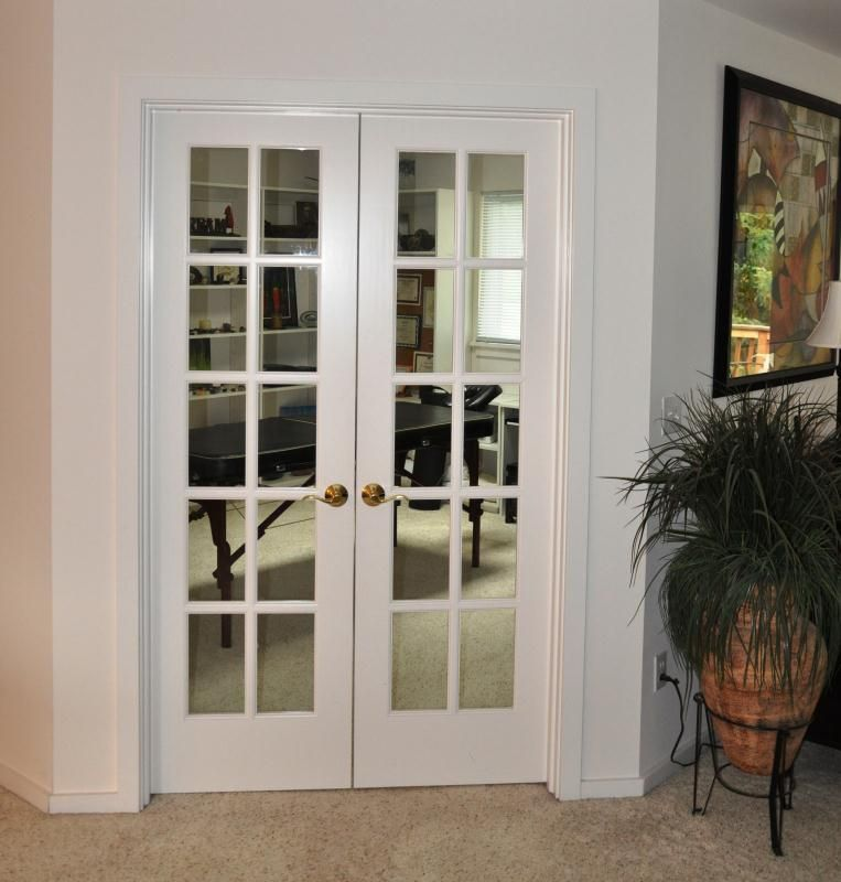Home Office With White French Door