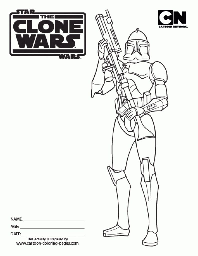 Malvorlagen Kostenlos Star Wars: Star Wars Clone Coloring Pages In Clone Trooper Coloring