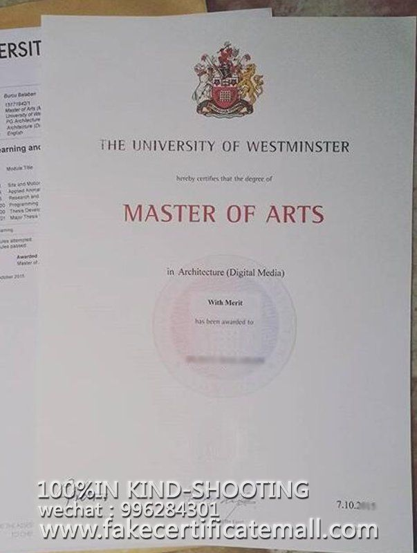 where to buy fake University of Westminster certificate?-Fake