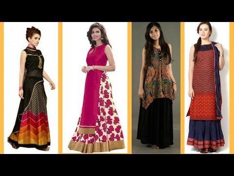 ea4c725cc Long kurti with skirt style // Trending kurta tops - YouTube ...