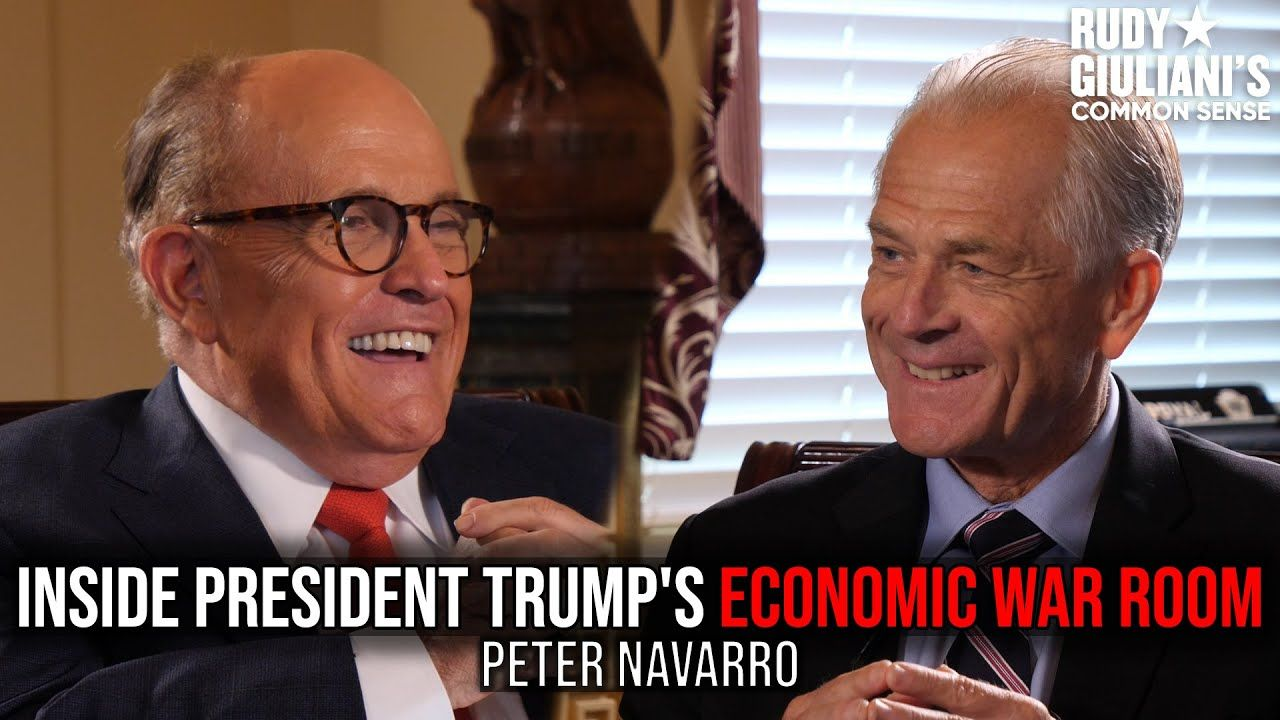 Inside President Trump S Economic War Room Peter Navarro And Rudy Giuliani Ep 55 Youtube In 2020 Rudy Giuliani Navarro War Room