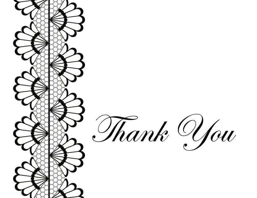 Printable Thank You Card Template Blank  Card    Card