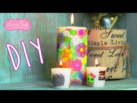 DIY / Haz Velas con Sharpies y servilletas - YouTube